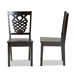 Baxton Studio Gervais Modern and Contemporary Transitional Dark Brown Finished Wood 2-Piece Dining Chair Set - IERH339C-Dark Brown Wood Scoop Seat-DC-2PK