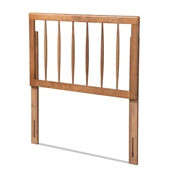 Baxton Studio Valin Modern and Contemporary Ash Walnut Finished Wood Twin Size Headboard