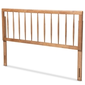 Baxton Studio Valin Modern and Contemporary Ash Walnut Finished Wood Queen Size Headboard
