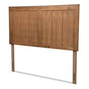 Baxton Studio Patwin Modern and Contemporary Transitional Ash Walnut Finished Wood Queen Size Headboard