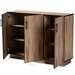 Baxton Studio Patton Modern and Contemporary Natural Oak Finished Wood 3-Door Dining Room Sideboard Buffet - IEMPC8016-Natural-Sideboard