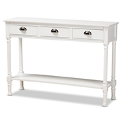 Baxton Studio Garvey French Provincial White Finished Wood 3-Drawer Entryway Console Table