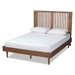 Baxton Studio Harena Modern and Contemporary Transitional Ash Walnut Finished Wood King Size Headboard