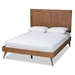Baxton Studio Valin Modern and Contemporary Ash Walnut Finished Wood Full Size Headboard