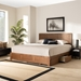 Baxton Studio Aras Modern and Contemporary Transitional Ash Walnut Brown Finished Wood King Size 3-Drawer Platform Storage Bed - IEAras-Ash Walnut-King