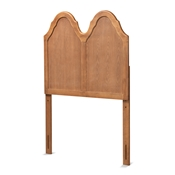 Baxton Studio Tobin Vintage Classic and Traditional Ash Walnut Finished Wood Twin Size Arched Headboard