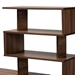 Baxton Studio Foster Modern and Contemporary Walnut Brown Finished Wood Storage Desk with Shelves - IESESD8014WI-Columbia-Desk