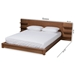 Baxton Studio Elina Modern and Contemporary Walnut Brown Finished Wood Queen Size Platform Storage Bed with Shelves - IEMG-0051-Ash Walnut-Queen