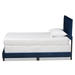 Baxton Studio Caprice Modern and Contemporary Glam Navy Blue Velvet Fabric Upholstered Twin Size Panel Bed - IECF9210B-Navy Blue Velvet-Twin