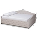 Baxton Studio Becker Modern and Contemporary Transitional Beige Fabric Upholstered Full Size Daybed - IEBecker-Beige-Daybed-Full