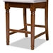 Baxton Studio Darcie Modern and Contemporary Grey Fabric Upholstered and Walnut Brown Finished Wood 2-Piece Counter Stool Set - IERH324P-Grey/Walnut-PC