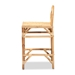 Baxton Studio Seville Modern and Contemporary Natural Finished Rattan Counter Stool - IESeville-Natural-CS