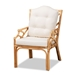 Baxton Studio Sonia Modern and Contemporary Natural Finished Rattan Armchair