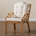 Baxton Studio Sonia Modern and Contemporary Natural Finished Rattan Armchair - IESonia-Natural-CC Arm