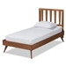 Baxton Studio Michi Modern and Contemporary Ash Walnut Finished Wood Twin Size Bed