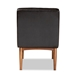 Baxton Studio Daymond Mid-Century Modern Dark Brown Faux Leather Upholstered and Walnut Brown Finished Wood Dining Chair - IEBBT8051.12-Dark Brown/Walnut-CC