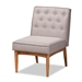 Baxton Studio Riordan Mid-Century Modern Grey Fabric Upholstered and Walnut Brown Finished Wood Dining Chair