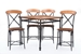 Baxton Studio Broxburn Light Brown Wood & Metal Pub Table - IECDC222-PT