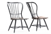 "Baxton Studio Longford ""Dark-Walnut"" Wood and Black Metal Vintage Industrial Dining Chair (Set of 2) - IECDC271-DS2-BBXX (2)"