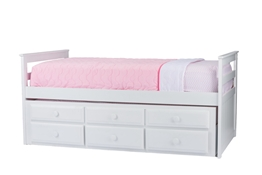 Baxton Studio Ballina White Wood Contemporary Twin-Size Trundle Bed Baxton StudioBallina White Wood Contemporary Twin-Size Trundle Bed, FurnitureBedroom Furniture