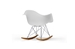 White Molded Plastic Shell Rocking Chair - IEDC-311W-White