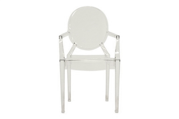 Ghost Chair Clear Acrylic Stackable Arm