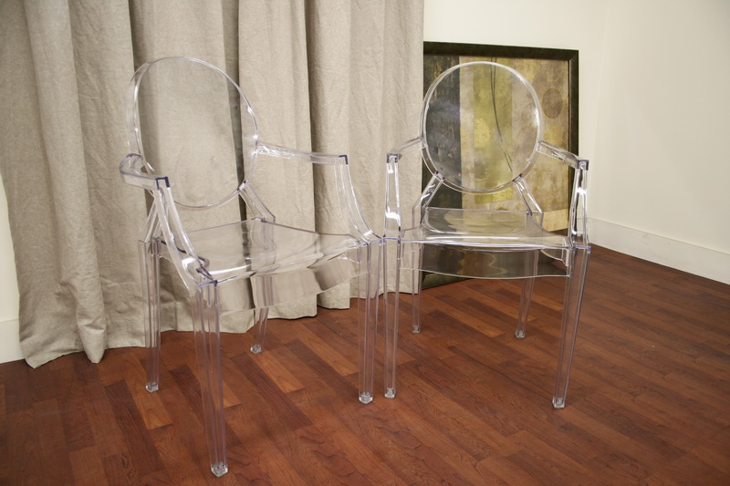 Ghost Chair Clear Acrylic Stackable Arm Chair Interior