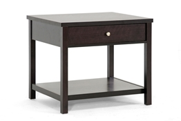 Baxton Studio Nashua Brown Modern Accent Table and Nightstand