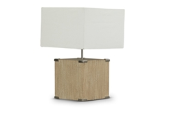Baxton Studio Kostka Wood and Fabric Lamp Baxton StudioKostka Wood and Fabric Lamp, FurnitureLighting