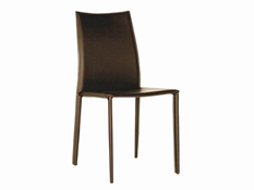 Set of 2 Rockford Brown Leather Dining Chairs