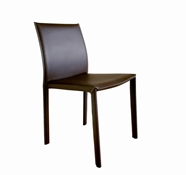 Baxton Studio Brown Burridge Leather Dining Chair
