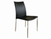 Set of 2 New York  Black Leather Dining Chairs