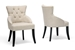 Halifax Beige Linen Dining Chair (Set of 2) - IEBH-63106