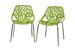Birch Sapling Green Plastic Modern Dining Chair (Set of 2) - IEDC-451-Green Set of 2