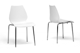 Overlea White Plastic Modern Dining Chair (Set of 2) Overlea White Plastic Modern Dining Chair (Set of 2), IEDC-7A-white (2)compare Overlea White Plastic Modern Dining Chair (Set of 2), best price
