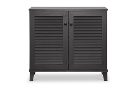 Baxton Studio Coolidge Espresso Shoe-Storage Cabinet Baxton Studio Coolidge Espresso Shoe-Storage Cabinet, Foyer Furniture