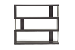 Baxton Studio Barnes Dark Brown Three-Shelf Modern Bookcase