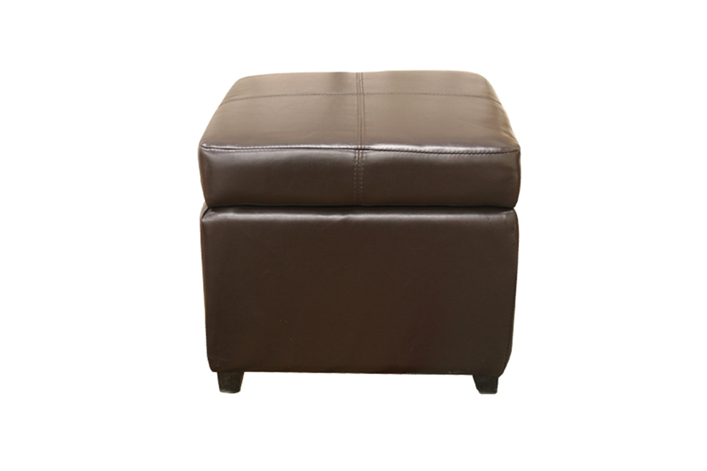 Ashley Furniture Leather Storage Ottoman With Wood ~ Pandora brown leather small storage ottoman with wood feet