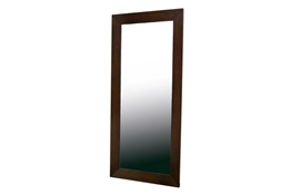 Doniea Dark Brown Wood Frame Modern Mirror - Rectangle