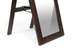 Baxton Studio Lund Dark Brown Wood Modern Mirror with Built-In Stand - IEMirror-0506071
