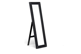 McLean Dark Brown Modern Mirror with Built-In Stand