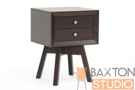 Baxton Studio Aveline Mid Century Nightstand in Dark Brown Aveline Mid Century Nightstand in Dark Brown, IEST-005-Night stand, Aveline Mid Century Nightstand in Dark Brown,Aveline Mid Century Nightstand in Dark Brown,Aveline Mid Century Nightstand in Dark Brown,Aveline Mid Century Nightstand in Dark Brown,