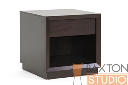 Baxton Studio Celeste Modern Style Nightstand in Dark Brown Celeste Modern Style Nightstand in Dark Brown, IEST-008-Night stand, Celeste Modern Style Nightstand in Dark Brown,Celeste Modern Style Nightstand in Dark Brown,Celeste Modern Style Nightstand in Dark Brown,Celeste Modern Style Nightstand in Dark Brown,