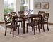 Baxton Studio Mozaika Wood and Leather Contemporary 7-Piece Dining Set - IEPCH305SQ (S3)/PCH 6339-DC(6)