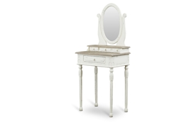 Baxton Studio Anjou Traditional French Accent Dressing Table with Mirror Baxton StudioAnjou Traditional French Accent Dressing Table with Mirror, FurnitureBedroom Furniture
