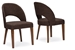 Baxton Studio Lucas Mid-Century Style Brown Fabric  Dining Chair (Set of 2) - IERT323-CHR (2)