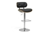 Baxton Studio Leona Walnut and Black Modern Bar Stool - IESDM2228-Walnut/Black-BS