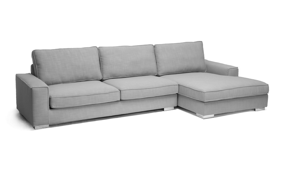 Brigitte Gray Modern Sectional Sofa