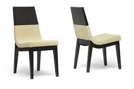 Baxton Studio Prezna Dark Brown and Beige Modern Dining Chair (Set of 2) Prezna Dark Brown and Beige Modern Dining Chair, IETMH279-DC, best price on Prezna Dark Brown and Beige Modern Dining Chair, discount Prezna Dark Brown and Beige Modern Dining Chair, cheap Prezna Dark Brown and Beige Modern Dining Chair