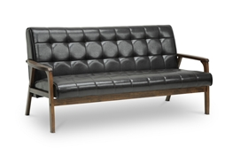 Baxton Studio Mid-Century Masterpieces Sofa-Brown Baxton Studio Mid-Century Masterpieces Sofa-Brown, Living Room Furniture